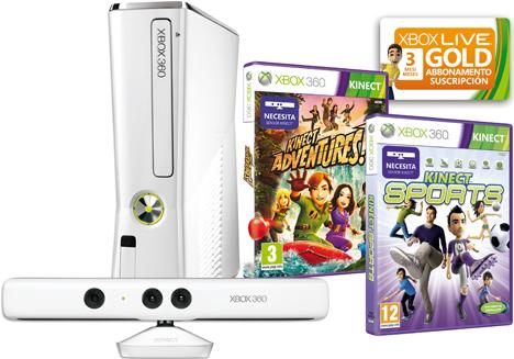 Pack Xbox 360 Blanca Edición Limitada