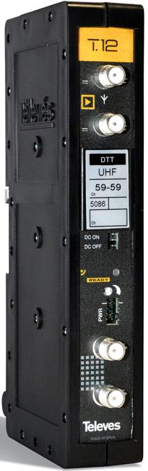 Amplificador monocanal T.12 de Televés