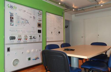 Sala de formación de Isde en Providencia (Chile)