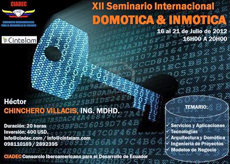 Cartel del XII Seminario Internacional de Domótica e Inmótica