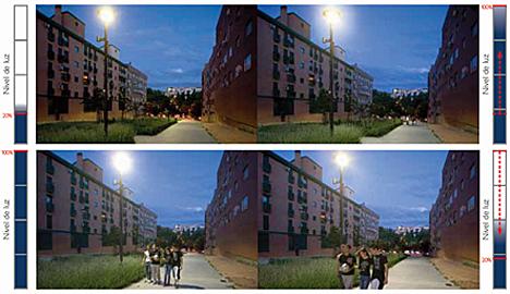 Sistema LumiMotion de Philips en una calle