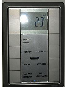 Termostato para controlar la temperatura de toda la vivienda