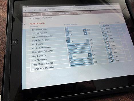 Control de la iluminación desde el iPad
