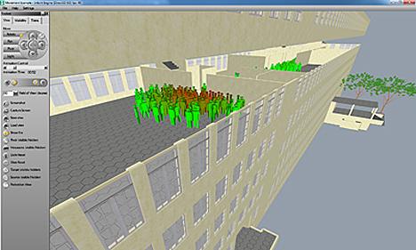 Software para la evacuación de edificios de Siemens