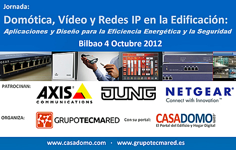 Cartel Jornada sobre Domótica, Vídeo y Redes IP en la Edificación