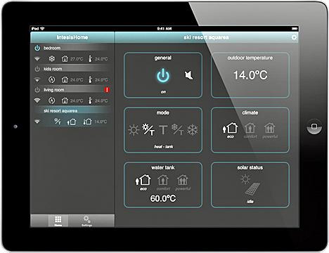Aplicación IntesisHome para el control del sistema de climatización Aquarea de Panasonic