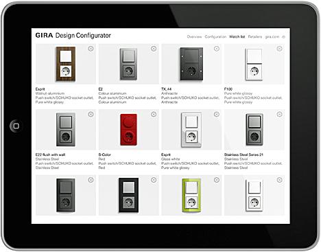 Aplicación Design Configurator de GIRA
