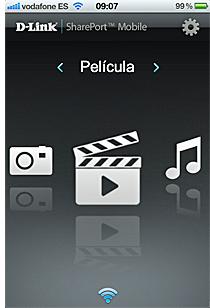 Aplicación SharePort Mobile de D-Link
