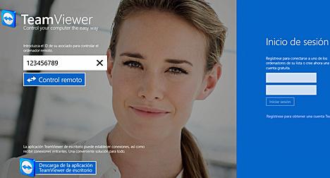 Aplicación Touch de TeamViewer para Windows 8