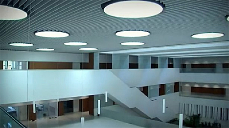 Facultad Ciencias Económicas de la Universidad de Navarra con control de iluminación de Ingeniería Domótica