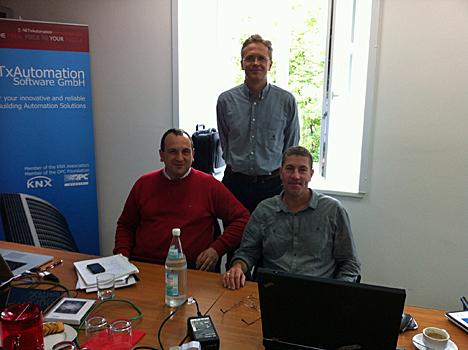Julio Díaz CEO de SAPIENX, en la sede de NETxAUTOMATION en Wels (Austria) el pasado mes de junio.