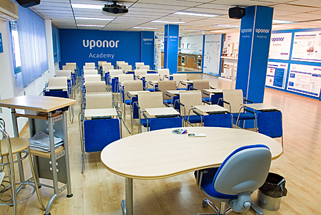 Sala de formación de Uponor Academy