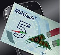 Tecnología MAGnite para verificar la autenticidad de los billetes con el teléfono móvil