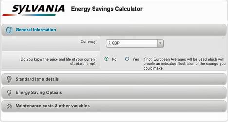 Calculadora de Ahorro Energético de Havells-Sylvania