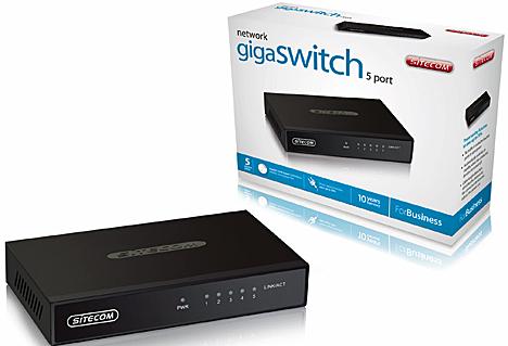 Switch Gigabit gama ForBusiness de Sitecom