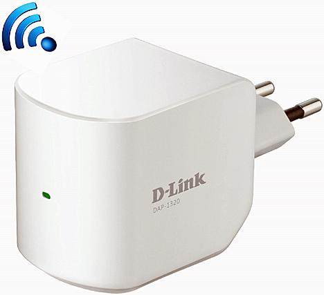 Repetidor DAP-1320 para extener la cobertura de D-LINK