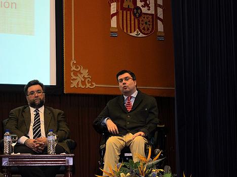 Javier Font, Presidente de FAMMA-COCENE, durante su intervención