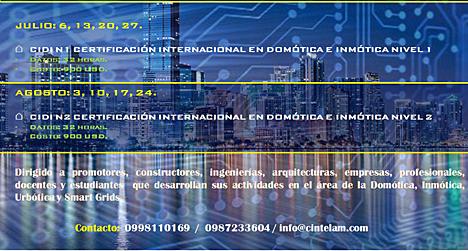 Cartel de cursos de formación de CINTELAM