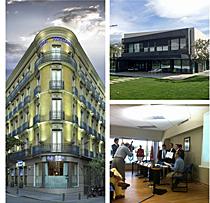 De izquierda a derecha, Hotel Preciados de Madrid, Vivienda Unifamiliar en Pozuelo de Alarcón y entrega de los premios a Ingeniería Domótica