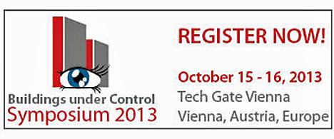 Cartel del evento Buildings Under Control Symposium