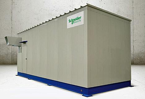 Subestación eléctrica prefabricada E-House de Schneider Electric