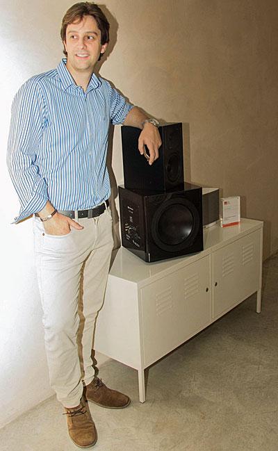 Carlos Gras, con altavoces