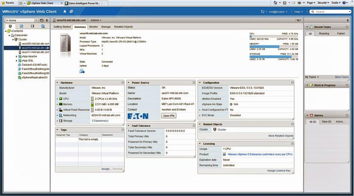 Software de gestión de energía de Eaton