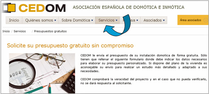 Web de CEDOM