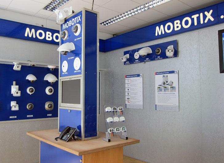 Showroom de MOBOTIX con cámaras