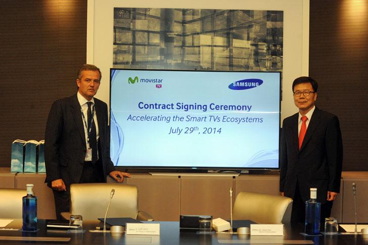 Firma acuerdo Telefonica Samsung