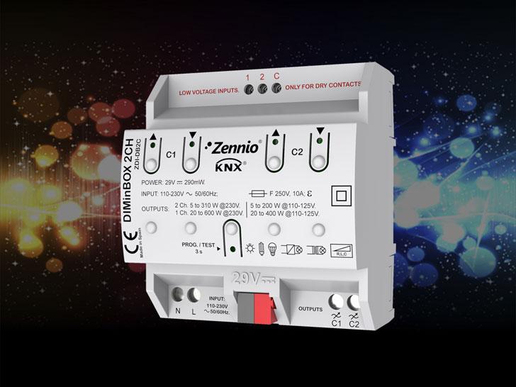 Actuador DIMinBOX 2CH de Zennio