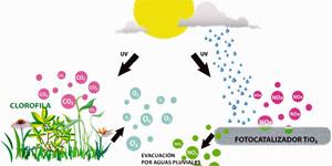 La isla fotocatalítica. Elementos constructivos descontaminantes aplicados sobre infraestructuras