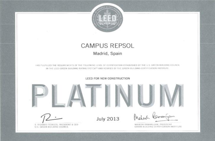 Certificado LEED Platino