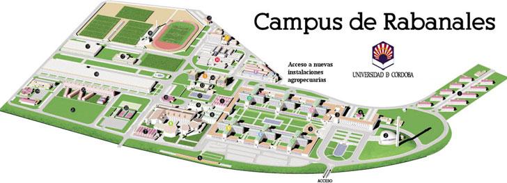 Plano de edificios de Campus Universitario de Rabanales