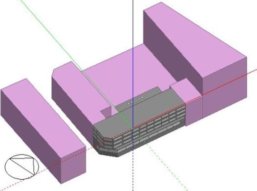 Modelo 3D, edificio completo