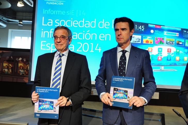 César Alierta y José Manuel Soria