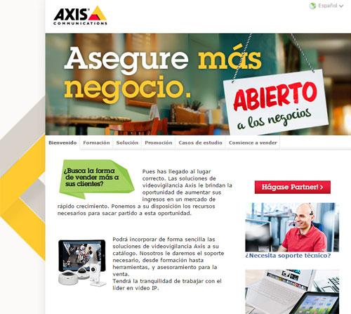 Microsite de Axis