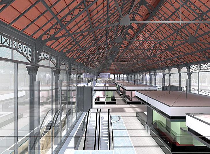 Interior del futuro Mercado del Val