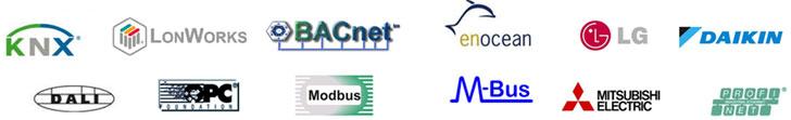 Protocolos inmóticos integrados en el servicio.