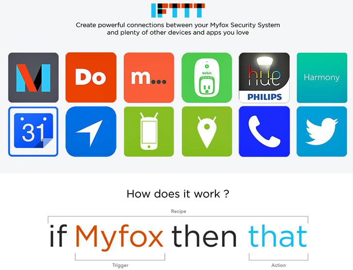 Recetas de Myfox Security IFTTT