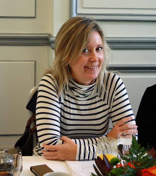 Paloma Velasco, en una reunión