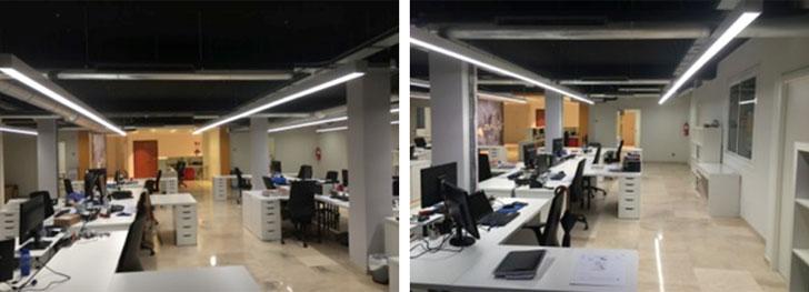 Figuras 4 y 5. Espacios libres de trabajo y Distancia entre mesas y de plano de trabajo.