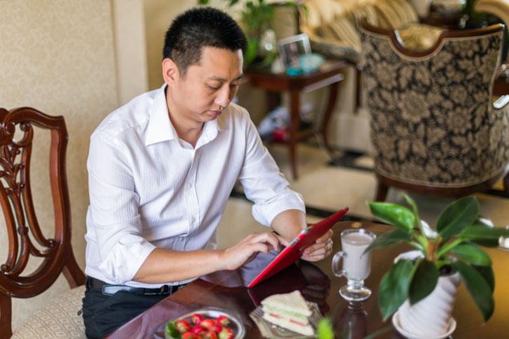 Usando el iPad