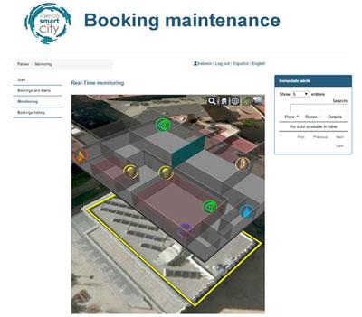 Aplicación de Mantenimiento de reservas junto con el visualizador 3D.