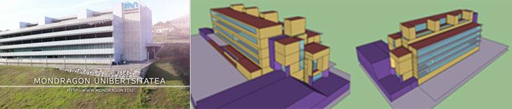 Modelo 3D Edificio 11 Mondragon Unibertsitatea.