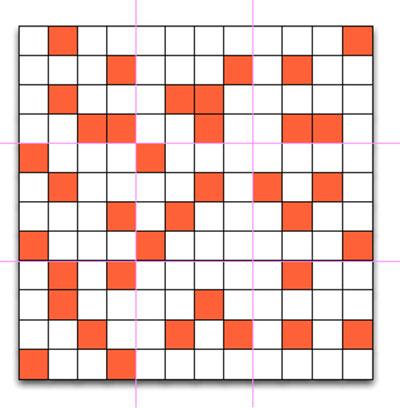 Los cuadrados rojos indican actividad dentro de los parámetros buscados en el período de tiempo determinado para segmentar.