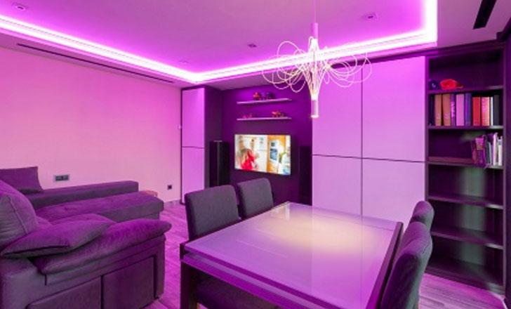 Iluminación con tiras LED RGBW