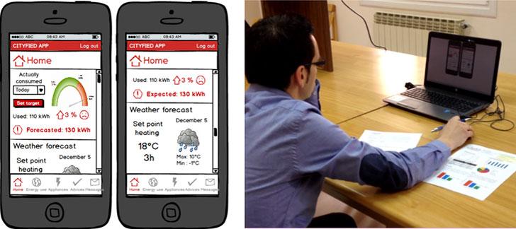 Diseño estático de solución para teléfono móvil y test de usuario de la misma.