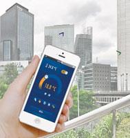Control remoto mediante aplicaciones móviles.