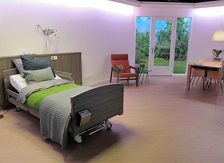 Habitación para un hospital o residencia
